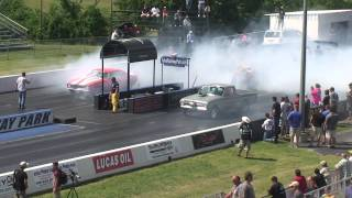 Alex Taylor and her dad Dennis Taylor racing Each other Drag Week 2014