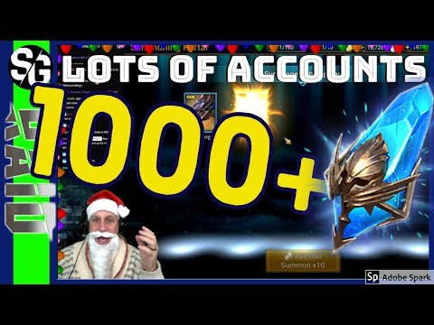 RAID SHADOW LEGENDS | 1000+ ANCIENT SUMMONS | CRAZY LUCK!