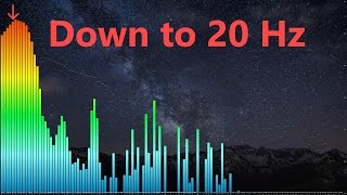 Underground Bass Masters Subwoofer Test visualized (down to 20 Hz)