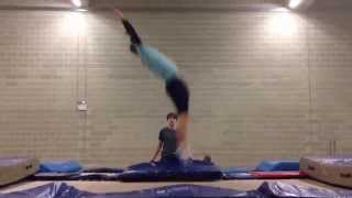 Straight 3/4 Back Somersault, Tuck Back Cody to Split (Lazy Back, Cody to split)