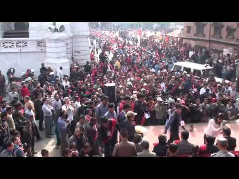 20091024084022 ประชุมการเมือง กาฐมาณฑุ เนปาล Durbar Square Kathmandu Nepal
