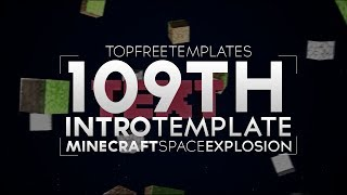 FREE Intro Template: Minecraft Space Explosion #109 w/Tutorial
