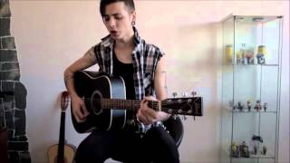 Black Veil Brides - Rebel love song (Acoustic cover)