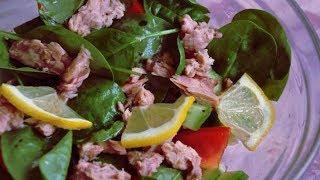 Готовим Салат с консервированным тунцом и авокадо #рецепт