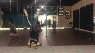 Eyes on Fire (Zeds Dead Remix) - Blue Foundation Beginner Pole and Floor Dance Routine 9-13-16