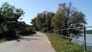 Duna-kanyar kerekparral