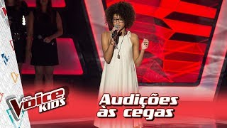 Claudia Zanetti canta 'Girl On Fire'  na Audição – 'The Voice Kids Brasil' | 3ª Temporada