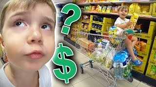 QUANTO GASTAMOS POR MÊS NO SUPERMERCADO? Compras no Mercado com o Maikito - Daily Vlog em Familia