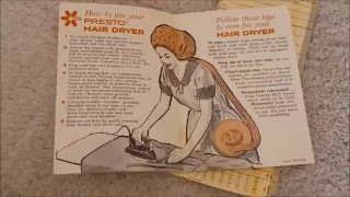 Vintage 1960s Presto Walk N Wear Bonnet Hair Dryer