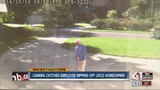 Surveillance video shows worker driving away from JoCo home without doing the job
