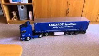 Tamiya Scania R620 Highline + Carson Canvas cover semi-trailer