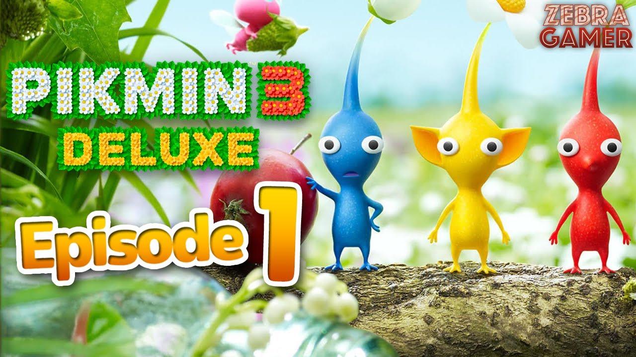 Zebra Gamer - Pikmin 3 Deluxe Gameplay Walkthrough Part 1 - Day 1! Charlie & Alph! Planet PNF-404!