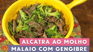 Receita - Alcatra ao Molho Malaio com Gengibre