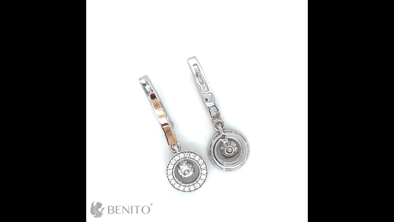 Mildred Earrings White Zircon Stones