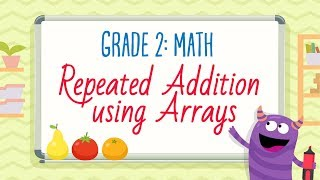 Worksheet: Repeated Addition using Arrays | 2nd Grade Math Worksheets | Kids Academy