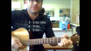 """How to play """"Do Wah Diddy Diddy"""" by Manfred Mann on acoustic guitar"""