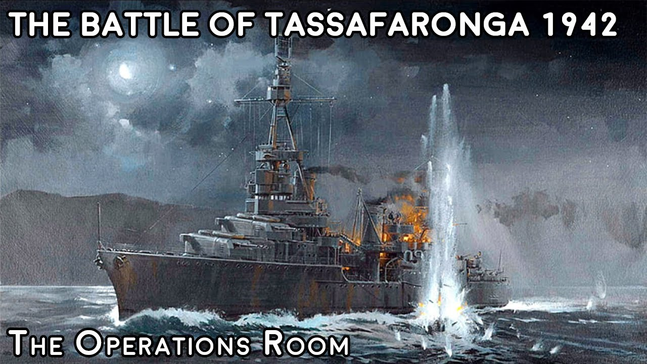 The Battle of Tassafaronga 1942 – US Heavy Cruisers Chase down the Japanese Destroyers – Animated