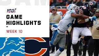 Lions vs. Bears Week 10 Highlights   NFL 2019