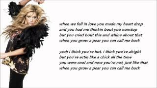 Ke$ha - Grow A Pear /\ Lyrics On A Screen