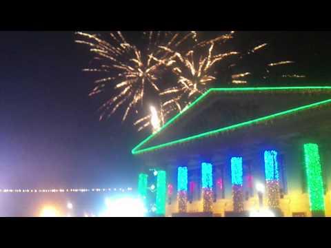 Ternopil,Ukraine 2012 Fireworks New year's Day 1/1/12