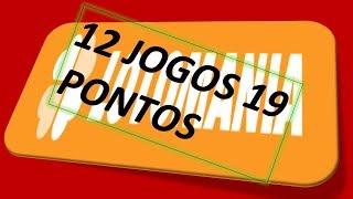 PLANILHA INEDITA 19 PONTOS 12 JOGOS