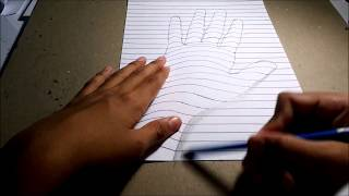 Drawing 3D Hand Illusion