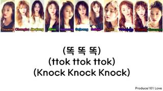 IOI ~ Knock Knock Knock Color Coded Lyrics (Han/Rom/Eng)