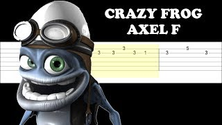Crazy Frog - Axel F (Easy Guitar Tabs Tutorial)
