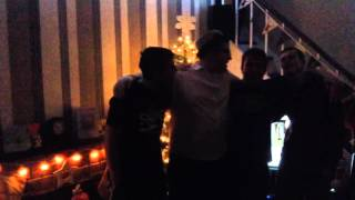 "NYE party 2015... The boys singing ""when I see you again"""
