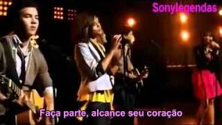 Jonas Brothers, Demi Lovato, Miley Cyrus, Selena Gomez   Send It On     ( Legendado )