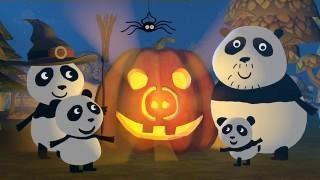 Halloween! 🎃 How PANDA got scared of spider Mr. SkinnyLegs in a Pumpkin