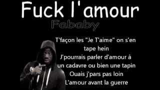 Fababy Fuck l'amour Lyrics