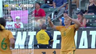 Australia vs. Brazil: Caitlin Foord Second Goal - Aug. 3, 2017