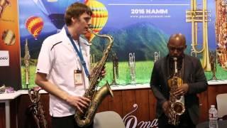 2016 Winter NAMM - Derek Brown / Marcus Strickland duo