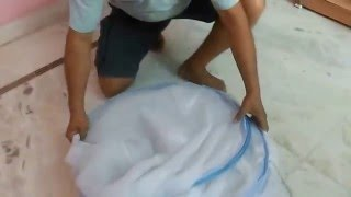 Mosquito net folding