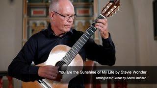 You are the Sunshine of My Life (Stevie Wonder) - Danish Guitar Performance - Soren Madsen