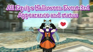 Toram Online - All Equips Halloween Event 3rd (Appearance and status)