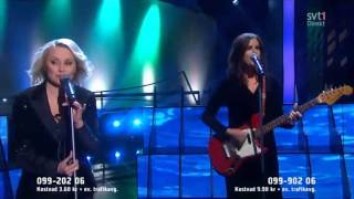 Louise Hoffsten - Only the dead fish follow the stream  ( Live Melodifestivalen 2013)