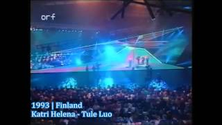 Finland - Eurovision Song Contest 1990 - 1999
