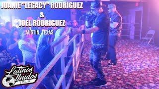 "Juanie ""Legacy"" Rodriguez & Joel Rodriguez Freestyle LIVE Austin Texas Latinos Unidos Tour"
