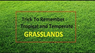 Trick to Remember Grasslands : Temperate and Tropical
