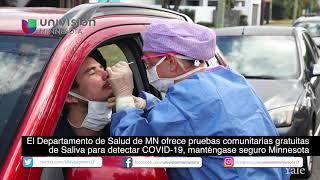 MDH de MN ofrece pruebas comunitarias gratuitas de Saliva para detectar COVID19,manténgase seguro MN