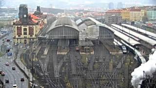 Odjezd parní lokomotivy Bulík z Hlavního nádraží 2016-04-23