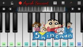 Shinchan|Family Background Music|Mobile Piano Tutorial