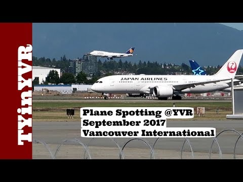 Plane Spotting @YVR September 2017 Vancouver International Airport.