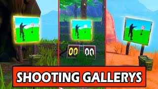 shooting gallery locations at wailing woods retail row paradise palms fortnite week 10 - all shooting galleries fortnite season 7