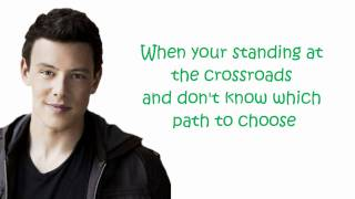 glee I'll stand by you (lyrics)