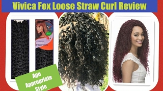 Vlog 23: Vivica Fox Loose Straw Curl Latch Hook Hair Review | Age Appropriate Styles