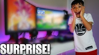 Surprising Little Brother With Insane Fortnite Gaming Setup!