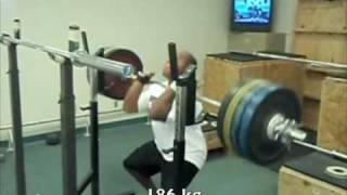 186 kg front squat  @ 86kg - 410 pounds